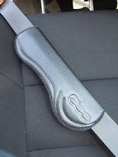 Carbon Fiber Car Seat Belt Cover Shoulder Cushion Pad , set of 2 for Fiat 500