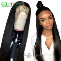 130%-180% Pre Plucked Long Straight Full Lace Wigs Human Hair Lace Front Wigs