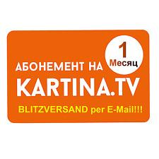 Kartina TV 1 Monat Abo Premium, ohne Vertrag SOFORTVERSAND keine Wartezeit !