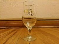 Brewery Ommegang Gold Rim Stemmed Beer Glass Belgian Style Brewing In America