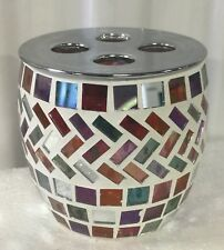 Brand new hand Made Glass multi-color mosaic bathroom tooth brush holder