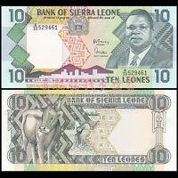 Sierra Leone 10 Leones, 1988, P-15, banknote, UNC