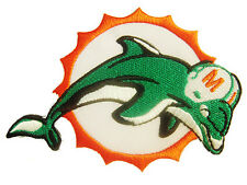 New NFL Miami Dolphins Logo Football embroidered iron on patch. (i175)