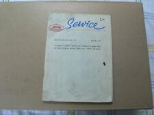 JAWA SERVICE TECHNICAL BULLETIN NO 1 1977 SUPPLEMENT JAWA 350 TYPE 634 MOTO