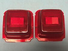 Mazda RX4 929 Coupe Rear Tail light Red Stop Lenses Pair Genuine NOS