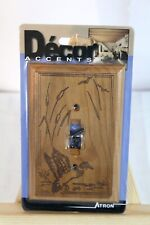 Wooden Bird Duck Light Switch Plate Cover BY Decor Accents - Atron - Laser Art
