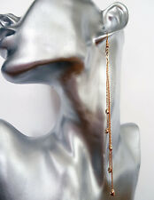 Earrings with Crystals & Diamante 14.5 cm Sexy Gold Tone Snake Chain Dangle Drop