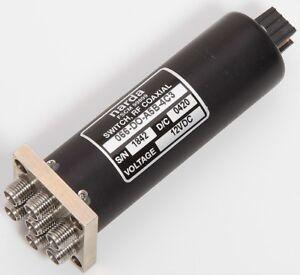 Narda Fscm 99899 Coassiale 6 Way 18GHz RF Switch 066-DO-A5B-4C3 12VDC 8 Pin Plug