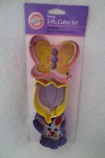 Wilton Spring 3- Pieces Cutter Set Butterfly Tulip Bunny Metal New