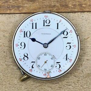 18s Waltham Pocket Watch Movement - Grade Vanguard - 21 Jewels, 5 Positions