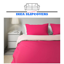 IKEA DVALA Full/Queen Duvet Cover Pillowcase Bedding 503.775.09 PINK COLOR
