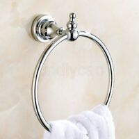 Wall Mounted Chrome Towel Ring Holder Hanger Bathroom Hardware Bath Accessory