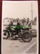 4 Photos HARLEY DAVIDSON MOTORCYCLE Indian Trike 1939 LOS ANGELES SUBURB Buddies