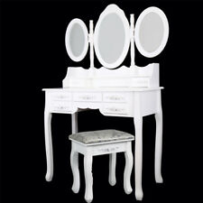 Coiffeuse meuble maquillage chambre bois table miroir tabouret neuf