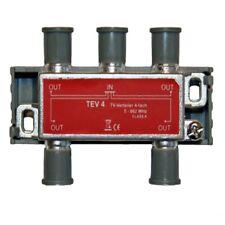SAT/ TV Switch tev4 4 x 5-862 MHz con materiale per fissaggio CLASSE A