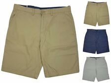 Tommy Hilfiger Academy Mens Flat Front 100% Cotton Shorts Choose Size&Color -F