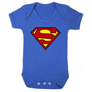 Superman - Baby Short Sleeve Vest Romper Babygrow 100% Cotton