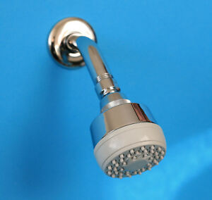 CLIP wall mounted shower head and arm multi-function with swivel joint chrome