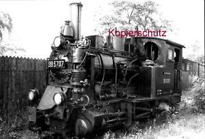 Originalfoto (Baryt) der 99 5707 in Straupitz 1968 - Spreewaldbahn