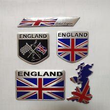 Car  Emblem Badge United Kingdom England Aluminum 3D Silver Metal Logo sticker