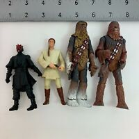 Mixed Lot of 4 Star Wars Action Figures Chewbacca Sith Lord Jedi