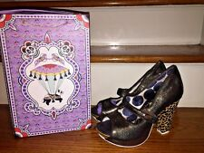 IRREGULAR CHOICE SnakeSkin Leopard Chunky Wedges HIGH HEELS Womens Shoes Sz 10