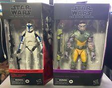 "Star Wars Black Series Clone Trooper Lieutenant and Garazeb ""Zeb"" Orrelios"