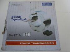 Desch TAPER BUSH Buchse Spannbuchse Type 2012 Bohrung 28mm | NEU | OVP