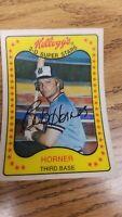 Bob Horner Atlanta Braves Kellogg's 1981 3D Baseball Card