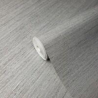 Modern roll Wallpaper Rustic Grey Silver metallic faux grasscloth lines textured