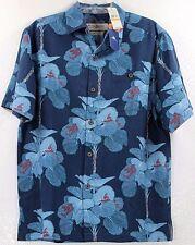 Tommy Bahama I'm A Big Fan-Dress Blues Heritage Tortola Silk Camp Shirt $138