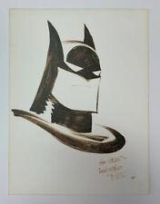 Bruce Timm Original Art Batman Head Sketch 1995 Animated Series OA Signed