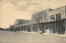 CO - 1908 RARE! Main Street in Holly, Colorado - Prowers County