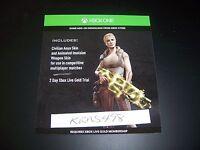 GEARS OF WAR Civilian Anya Skin and Animated Weapon Skin DLC Code Xbox One 1