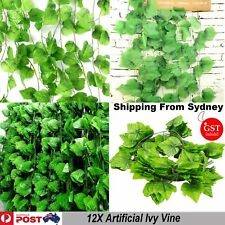 12X 2.4M Artificial Leaf Ivy Vine Plant Garland Fake Foliage Green Wedding Decor