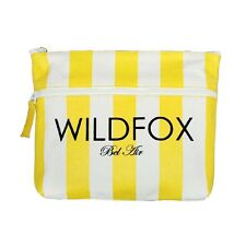 WILDFOX BEL AIR YELLOW & WHITE STRIPED BIKINI BAG, LINED, NEW WITH TAGS! HOT ITE