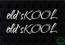 OLD'SKOOL OLD SCHOOL SCRIPT 2Pack 170mmW Stickers Car Truck DUB Skate Kombi o)