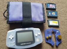Nintendo Game Boy Advance Glacier With 3 Games, Case and Extras