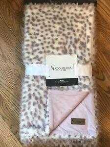 "Koolaburra By UGG Rosie Sculpted Jacquard Faux Fur Throw Blanket 50"" x 70"""