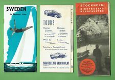 #RR.  THREE(3) TRAVEL GUIDE  BROCHURES / MAPS  FOR STOCKHOLM & SWEDEN
