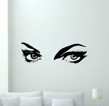 Girls Eyes Wall Decal Make Up Vinyl Sticker Beauty Salon Decor Art Poster 94hor