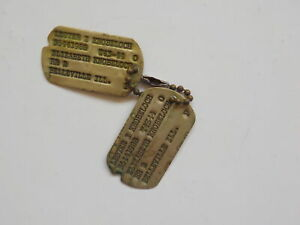 WWII Dog Tags Lester Knobeloch Belleville Illinois Dogtags Air Force WW II WW2