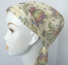 Sweet Flowers & Butterflies Cancer Chemo Alopecia Hair Scarf Turban Hat Headwrap