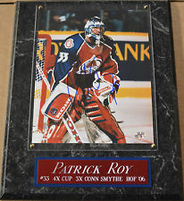 PATRICK ROY AVALANCHE AUTOGRAPHED SIGNED FRAMED 8X10 PHOTO-12X15 WALL PLAQUE COA