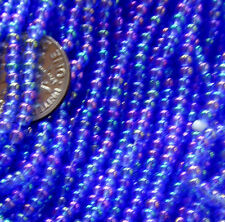 Blue Teal Golden Purple Vintage Glass Lgr Seed Beads Iridescent 12bpi (50111005)