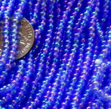 Blue Teal Golden Purple Vintage Glass Lgr Seed Beads Iridescent 12bpi (50110803)