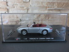 VOITURE MINIATURE HIGH SPEED PORSCHE 911 CARRERA CABRIO  ECH 1/43 ETAT NEUF