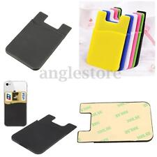 SILICONE ADHESIVE STICKY WALLET CRIDIT NAME CARD HOLDER CASE FOR SMART PHONE