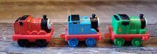 Thomas The Tank Engine Mattel Lot of 3 mini cars Thomas James Percy
