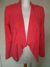 NEW LOOK ladies on trend neon orange lined long sleeves waterfall jacket – 8 S